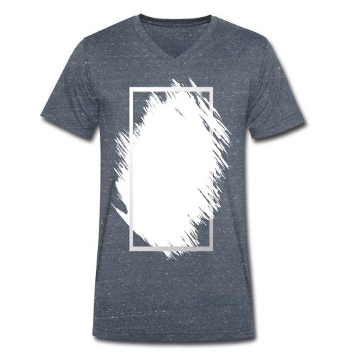 Grunge Rahmen fuer Deine Ideen 2 - Männer Bio-T-Shirt mit V-Ausschnitt von Stanley & Stella