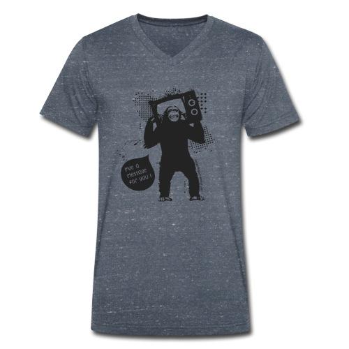 Monkey - T-shirt bio col V Stanley & Stella Homme
