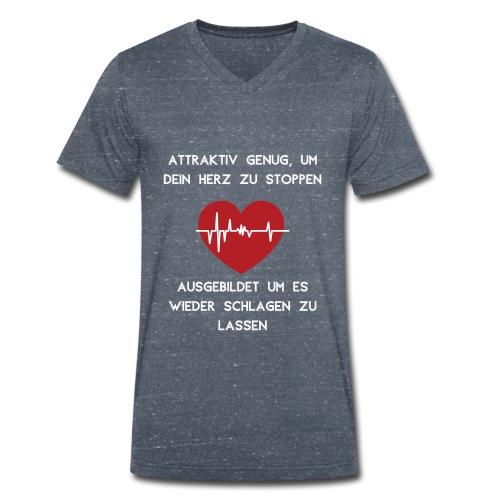 Herz stoppen Pflegekraft Attraktiv - Männer Bio-T-Shirt mit V-Ausschnitt von Stanley & Stella