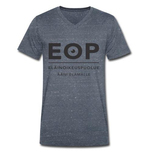 EOP Logo slogan musta - Stanley & Stellan miesten luomupikeepaita