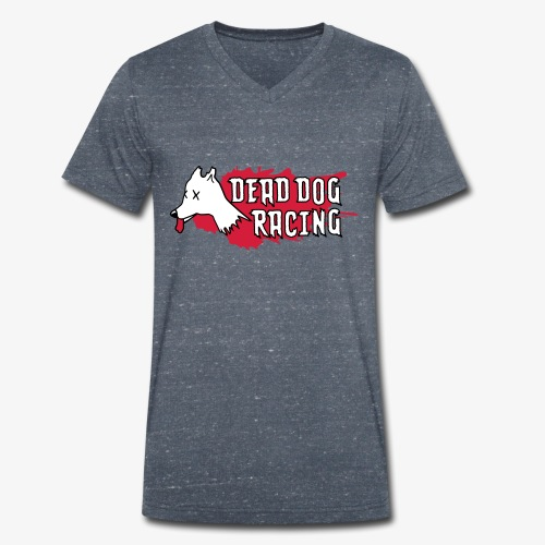 Dead dog racing logo - Men's Organic V-Neck T-Shirt by Stanley & Stella