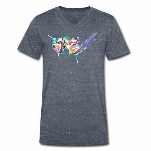 Grafitty - Camiseta ecológica hombre con cuello de pico de Stanley & Stella