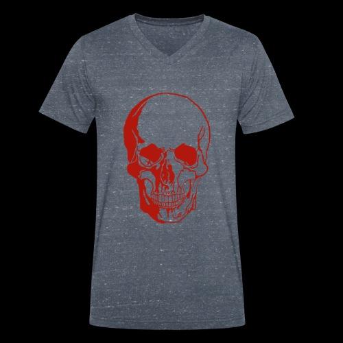 1fd8aa5d7f84f0b9638e591aec507d95 skull sketch sku - Männer Bio-T-Shirt mit V-Ausschnitt von Stanley & Stella