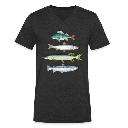 FOUR FISH - Ahven, siika, hauki ja taimen tuotteet - Stanley & Stellan miesten luomupikeepaita