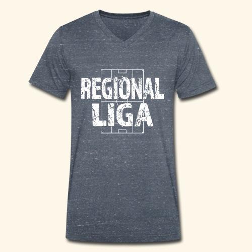 REGIONALLIGA im Fußballfeld - Männer Bio-T-Shirt mit V-Ausschnitt von Stanley & Stella