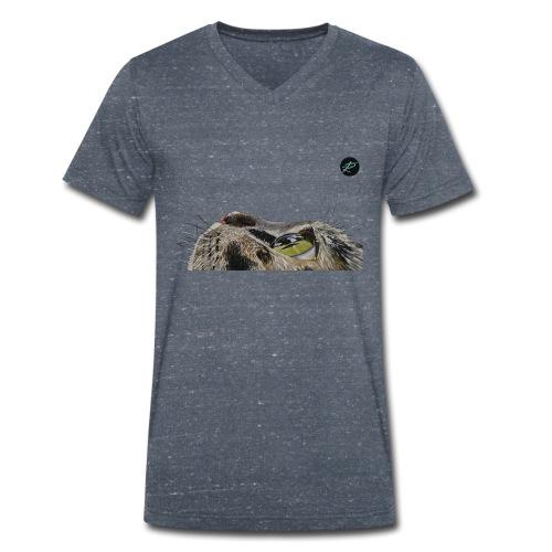 7vitecomeigatti - T-shirt ecologica da uomo con scollo a V di Stanley & Stella