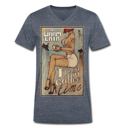Coffee Time - The Warm Lair - T-shirt bio col V Stanley & Stella Homme