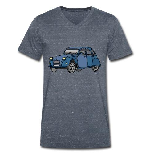 Blaue Ente 2CV - Männer Bio-T-Shirt mit V-Ausschnitt von Stanley & Stella