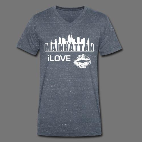 Mainhattan KISS - Männer Bio-T-Shirt mit V-Ausschnitt von Stanley & Stella