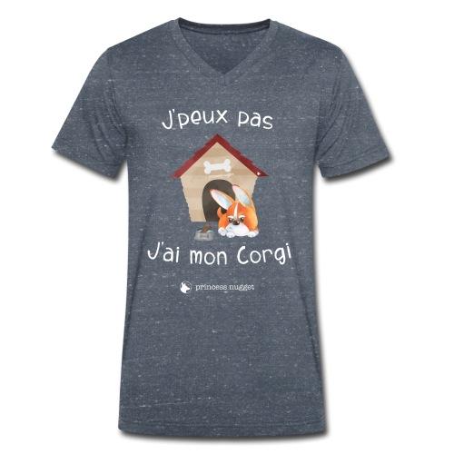 J'peux pas j'ai mon corgi - Grumpy Corgi - T-shirt bio col V Stanley & Stella Homme