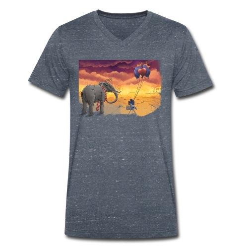 Savanna - Männer Bio-T-Shirt mit V-Ausschnitt von Stanley & Stella