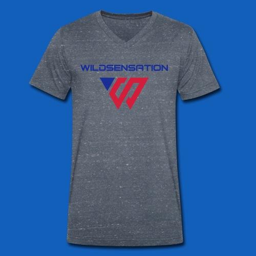 Logo Wildsensation - Männer Bio-T-Shirt mit V-Ausschnitt von Stanley & Stella