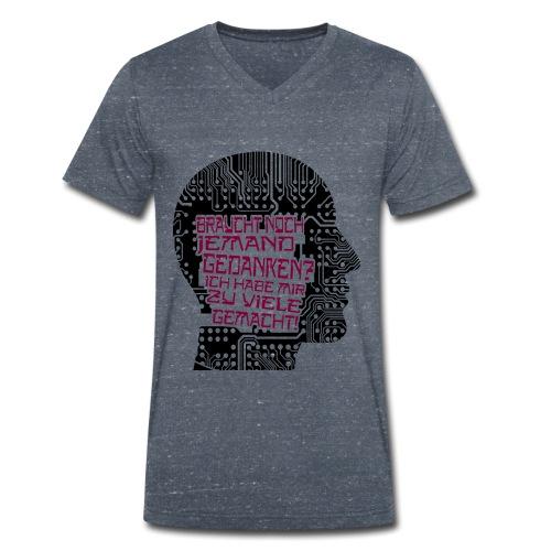 Braucht noch jemand Gedanken? - Männer Bio-T-Shirt mit V-Ausschnitt von Stanley & Stella