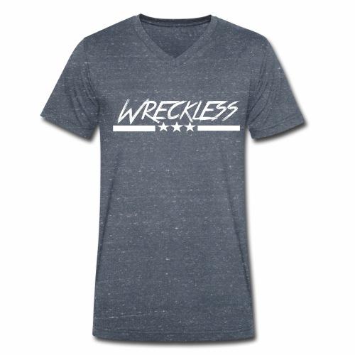 Wreckless crew - Økologisk T-skjorte med V-hals for menn fra Stanley & Stella