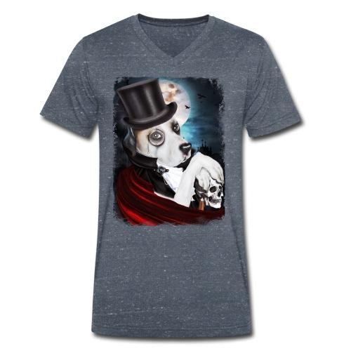 Gothic Dog #2 - T-shirt ecologica da uomo con scollo a V di Stanley & Stella