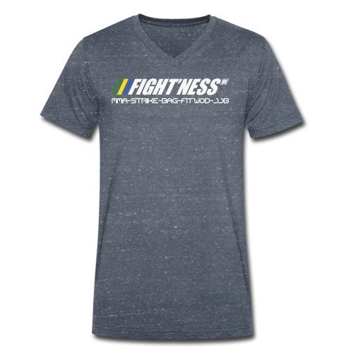 FIGHTNESS GEAR New Logo - T-shirt bio col V Stanley & Stella Homme
