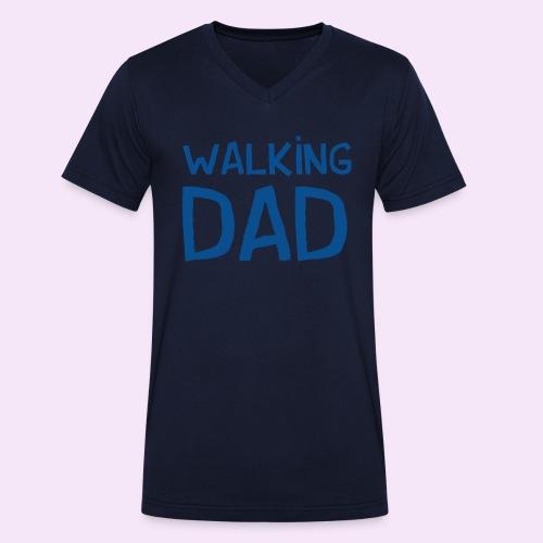 Vierdaagse Nijmegen - Walking Dad BLUE - Mannen bio T-shirt met V-hals van Stanley & Stella