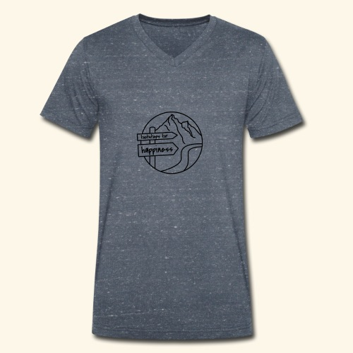Footsteps for Happiness - Männer Bio-T-Shirt mit V-Ausschnitt von Stanley & Stella