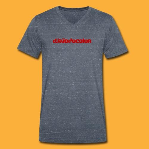 DJATODOCOLOR LOGO ROJO - Camiseta ecológica hombre con cuello de pico de Stanley & Stella