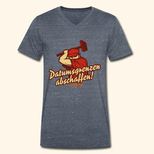 Lustiges Sprüche T Shirt Datumsgrenzen abschaffen - Männer Bio-T-Shirt mit V-Ausschnitt von Stanley & Stella
