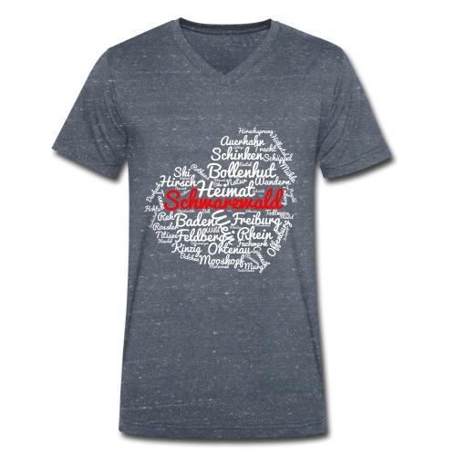 Schwarzwald Herz - Männer Bio-T-Shirt mit V-Ausschnitt von Stanley & Stella