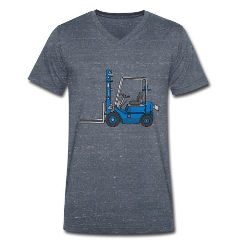 Blauer Gabelstapeler - Männer Bio-T-Shirt mit V-Ausschnitt von Stanley & Stella
