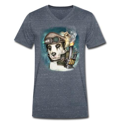Steampunk Dog #2b - T-shirt ecologica da uomo con scollo a V di Stanley & Stella