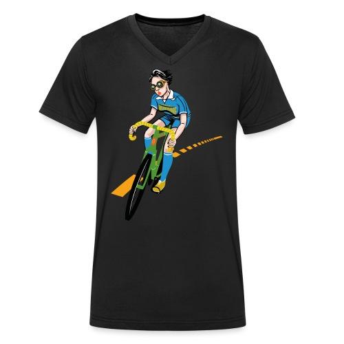 The Bicycle Girl - Männer Bio-T-Shirt mit V-Ausschnitt von Stanley & Stella