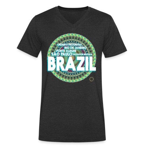 Lemon Brazil Mandala - T-shirt bio col V Stanley & Stella Homme