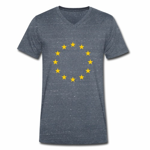 EU flag - Men's Organic V-Neck T-Shirt by Stanley & Stella