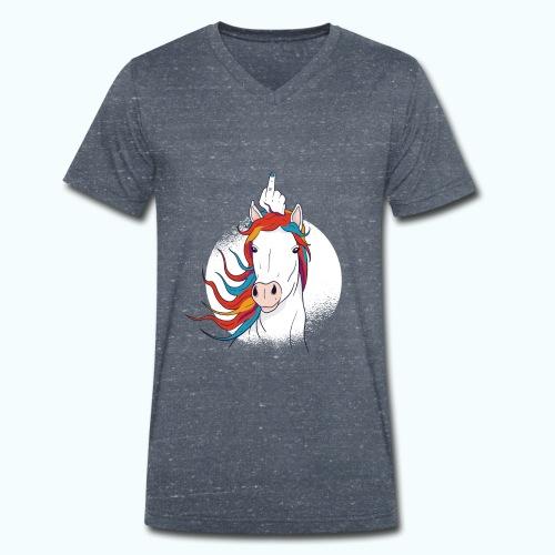 I'm A Fucking Unicorn - Men's Organic V-Neck T-Shirt by Stanley & Stella