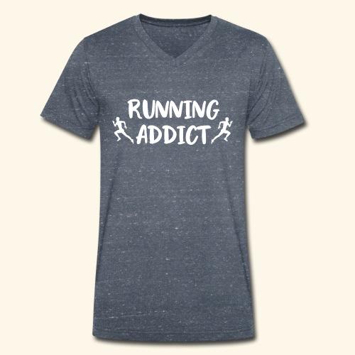 Running Addict Men Männer süchtig nach Laufen - Männer Bio-T-Shirt mit V-Ausschnitt von Stanley & Stella