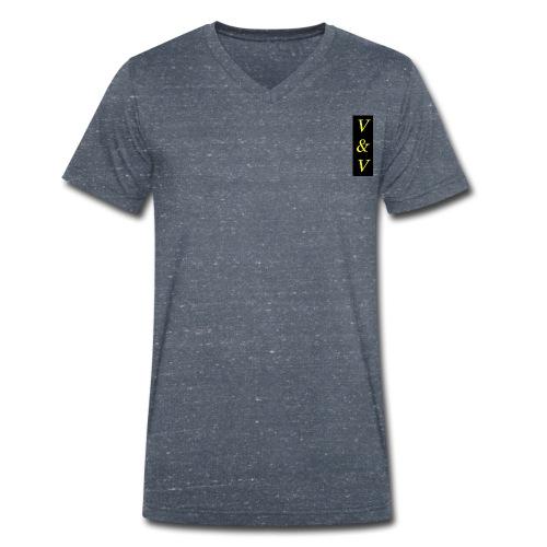V V NOWE - Ekologiczna koszulka męska z dekoltem w serek Stanley & Stella