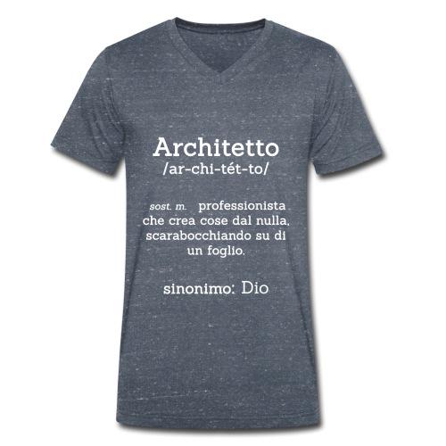 Architetto definizione - Sinonimo Dio - bianco - T-shirt ecologica da uomo con scollo a V di Stanley & Stella