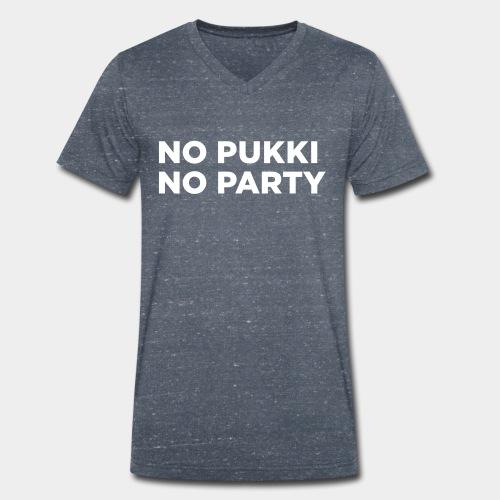 No Pukki, no party - Stanley & Stellan miesten luomupikeepaita
