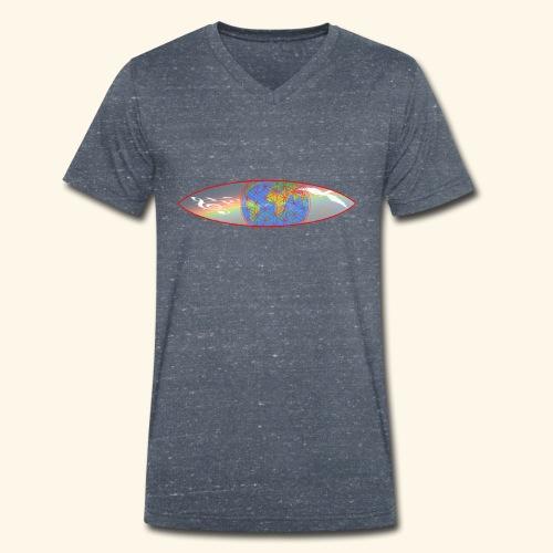Heal the World - Männer Bio-T-Shirt mit V-Ausschnitt von Stanley & Stella