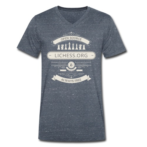 Vintage Lichess - Men's Organic V-Neck T-Shirt by Stanley & Stella