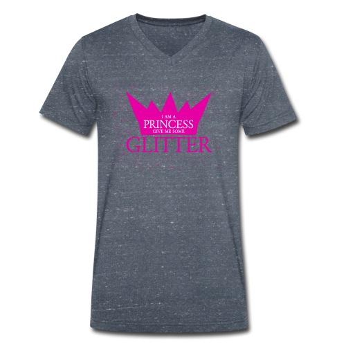 Glitzer für die Prinzessin - Männer Bio-T-Shirt mit V-Ausschnitt von Stanley & Stella