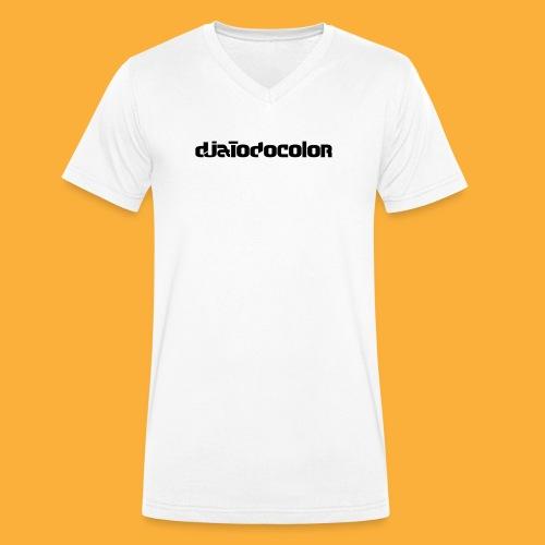 DJATODOCOLOR LOGO NEGRO - Camiseta ecológica hombre con cuello de pico de Stanley & Stella