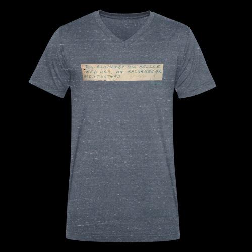 Werner-Aspenström-citat - Ekologisk T-shirt med V-ringning herr från Stanley & Stella