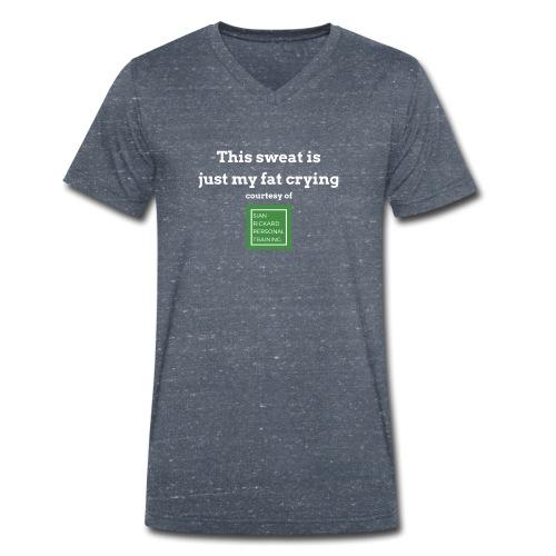 SRPT Fat Crying - Men's Organic V-Neck T-Shirt by Stanley & Stella