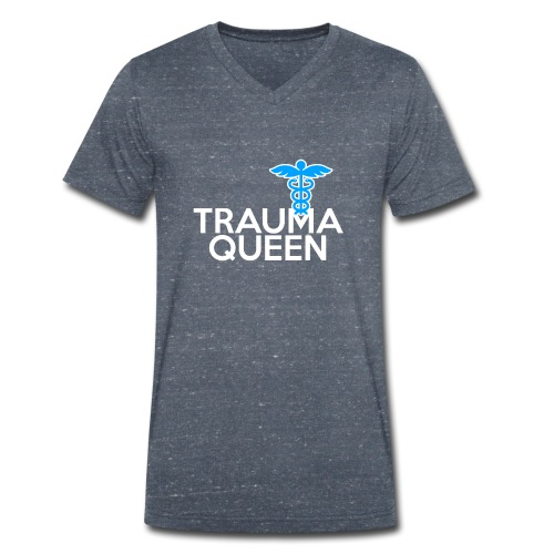 Trauma Queen - Männer Bio-T-Shirt mit V-Ausschnitt von Stanley & Stella