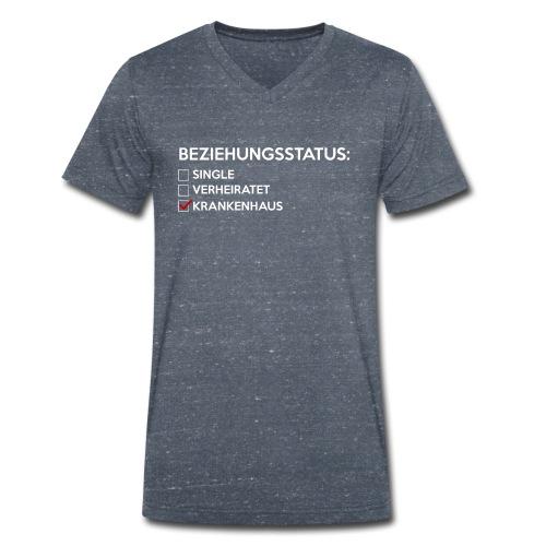 Beziehungsstatus - Krankenhaus - Männer Bio-T-Shirt mit V-Ausschnitt von Stanley & Stella