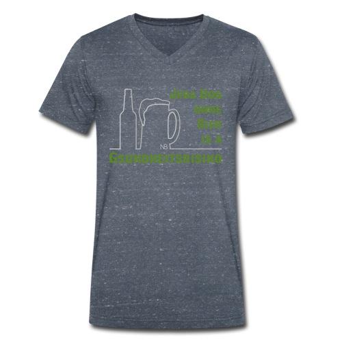 Jeda Dog ohne Bier is a Gsundheitsrisiko - Männer Bio-T-Shirt mit V-Ausschnitt von Stanley & Stella