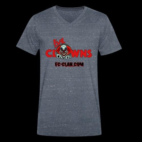 EvilClownsClan black red kontur red - Männer Bio-T-Shirt mit V-Ausschnitt von Stanley & Stella