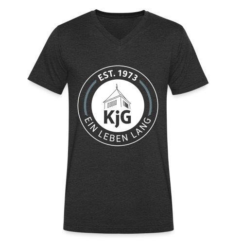 KjG - Ein Leben lang - Männer Bio-T-Shirt mit V-Ausschnitt von Stanley & Stella