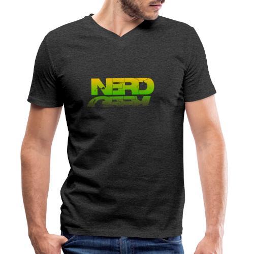 nerd geek - T-shirt bio col V Stanley & Stella Homme