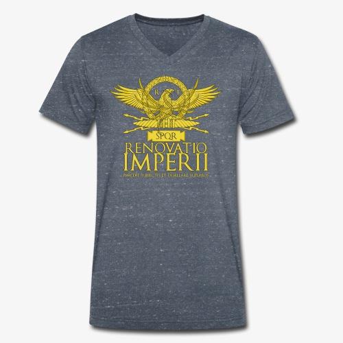 Emblema Renovatio Imperii - T-shirt ecologica da uomo con scollo a V di Stanley & Stella