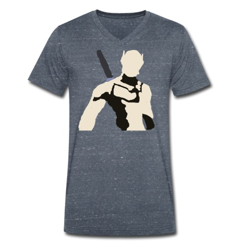 Genji - Ekologiczna koszulka męska z dekoltem w serek Stanley & Stella