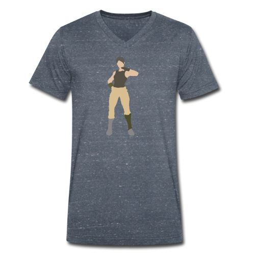 Battle Royale - Ekologiczna koszulka męska z dekoltem w serek Stanley & Stella
